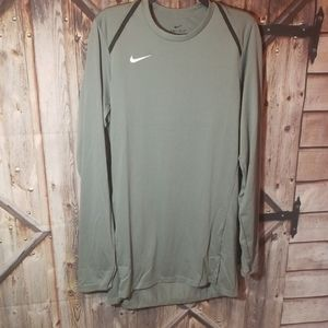 NWT nike dry fit small tall grey ls shirt